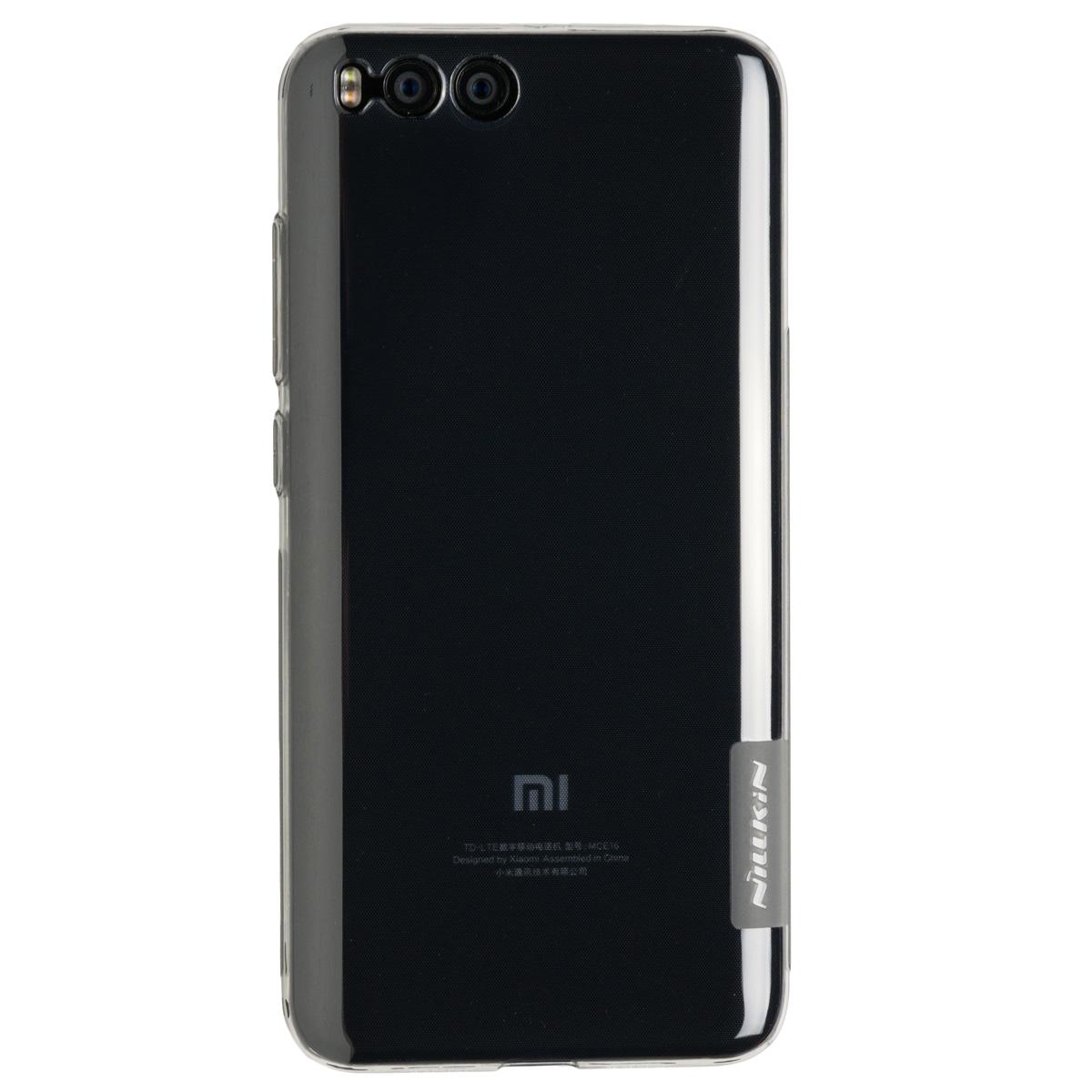 Силиконовый чехол для Xiaomi Mi 6 Nillkin (Прозрачный чёрный)