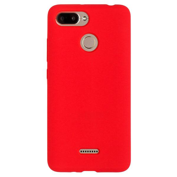 Силиконовый чехол для Redmi 6 Soft Touch Experts (Красный)