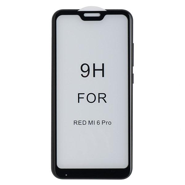 Стекло противоударное для Mi A2 Lite/Redmi 6 Pro CASE 3D (Черное)