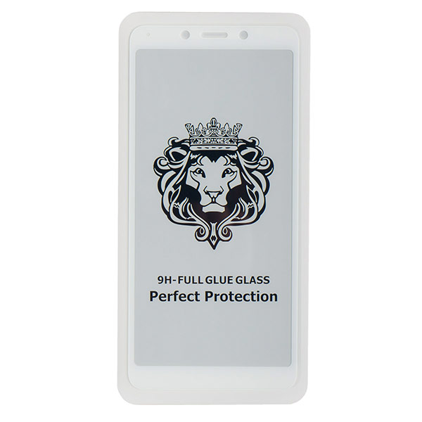 Стекло противоударное для Redmi 6/6A CASE Full Glue (Белая)