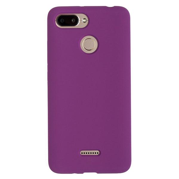 Силиконовый чехол для Redmi 6 Soft Touch Experts (Фиолетовый)
