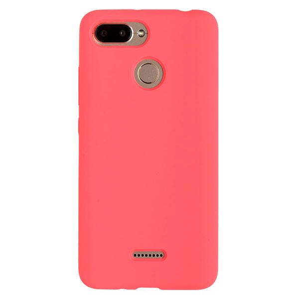 Силиконовый чехол для Redmi 6 Soft Touch Experts (Розовый)