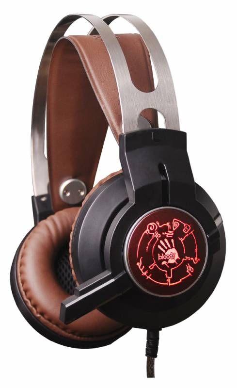 Игровая гарнитура A4TECH BLOODY G430 (черный/коричневый)