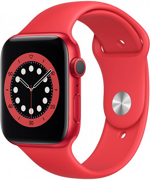 Умные часы APPLE Watch Series 6 44 мм (алюминий красный/красный спортивный)