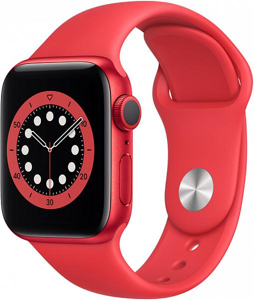 Умные часы APPLE Watch Series 6 40 мм (алюминий красный/красный спортивный)