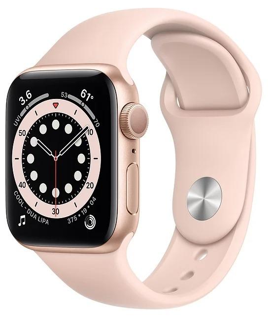 Умные часы APPLE Watch Series 6 40 мм (алюминий золотой/розовый)