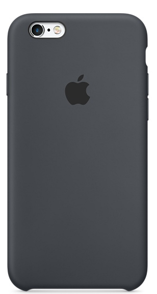 Чехол для телефона APPLE Silicone Case Charcoal Gray (MKY02ZM/A)