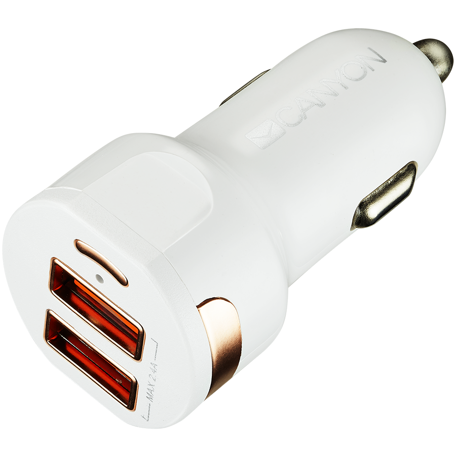 Автомобильный адаптер CANYON 2*USB Тип A (CNE-CCA04W)