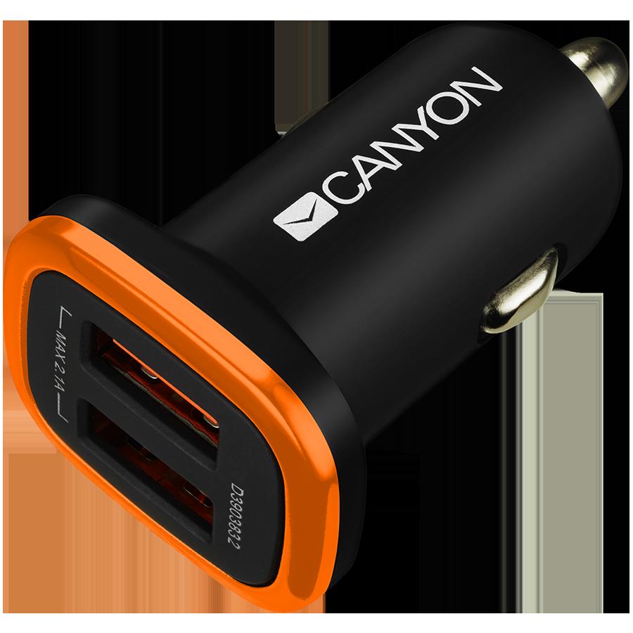 Автомобильный адаптер CANYON 2*USB Тип A (CNE-CCA02B)