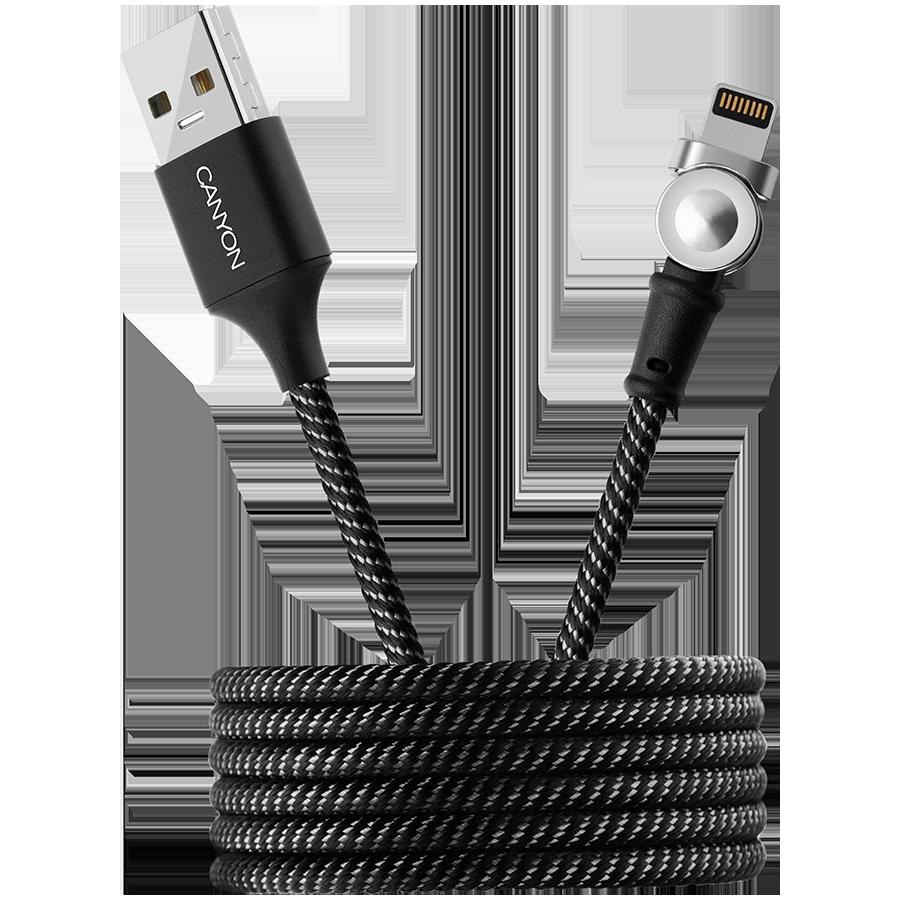 CANYON Кабель-переходник с Lightning на USB 2.0 (CNS-CFI8B)