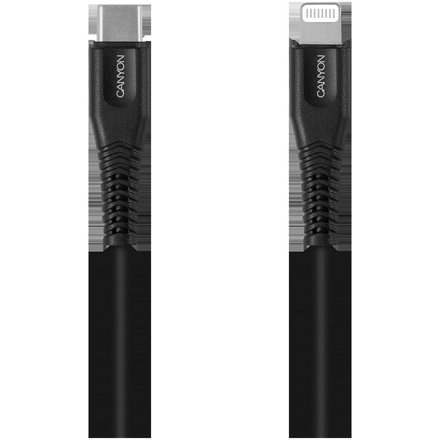 CANYON Кабель-переходник с USB-C на Lightning (CNS-MFIC4B)