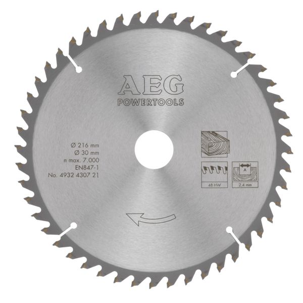 Диск пильный AEG Powertools 4932430471