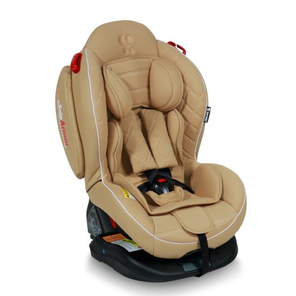 Детское автокресло LORELLI ARTHUR ISOFIX BEIGE LEATHER 0-25 кг