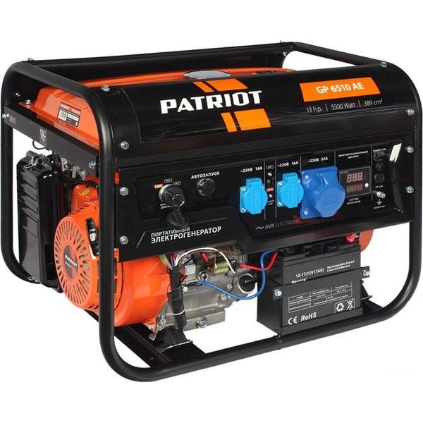 Генератор Patriot GP 6510AE