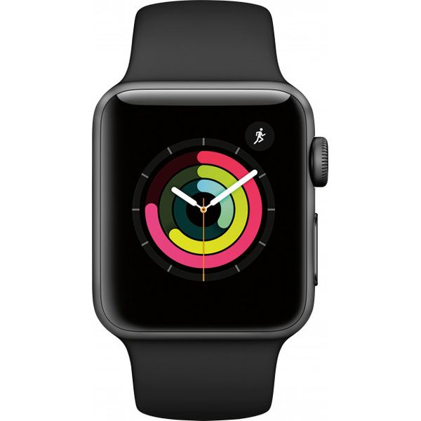 Смарт-часы Apple Watch Series 3 GPS 38mm Space Grey Aluminium Case with Black Sport Band MTF02FS/A