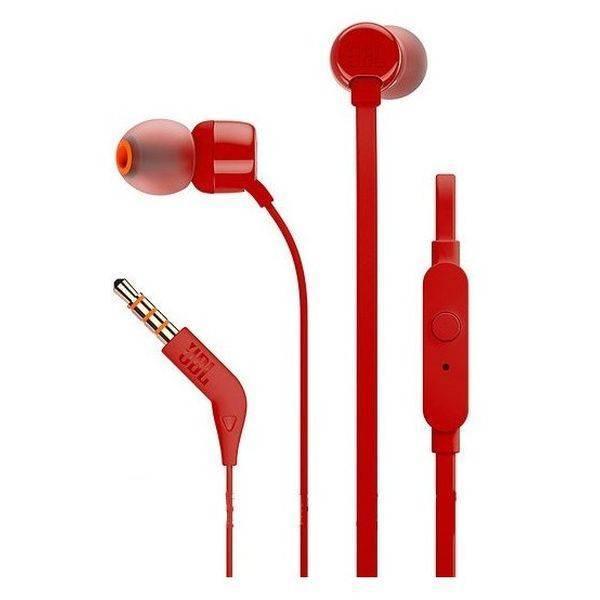 Наушники с микрофоном JBL Tune 110 красный