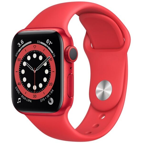 Смарт-часы APPLE Watch Series 6 Aluminium Case with RED Sport Band 40mm (M00A3UL/A)