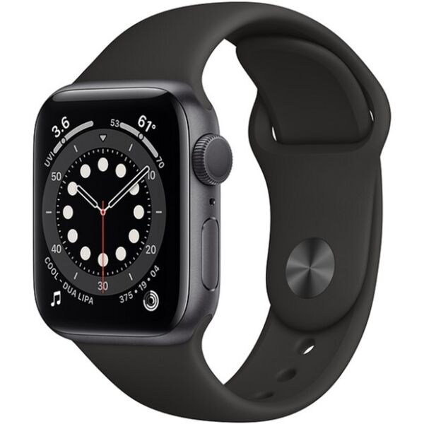 Смарт-часы APPLE Watch Series 6 Space Gray Aluminium Case with Black Sport Band 40mm (MG133UL/A)