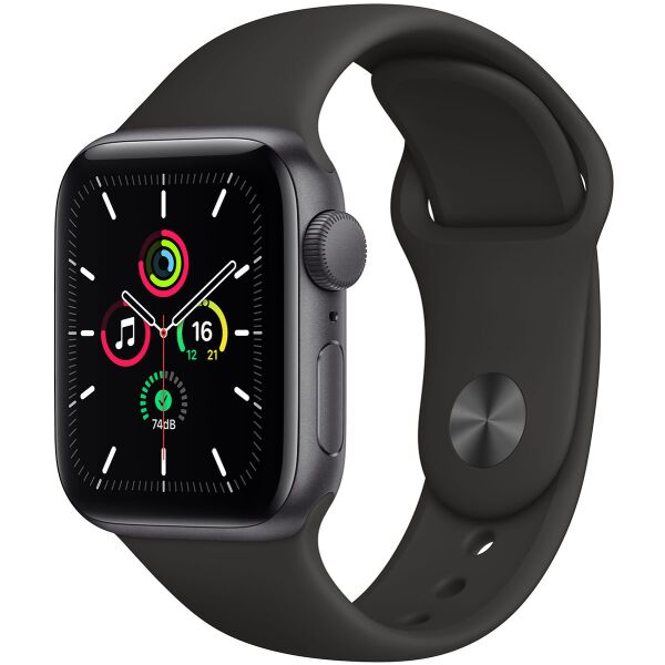 Смарт-часы APPLE Watch SE Space Gray Aluminium Case with Black Sport Band 44mm (MYDT2UL/A)