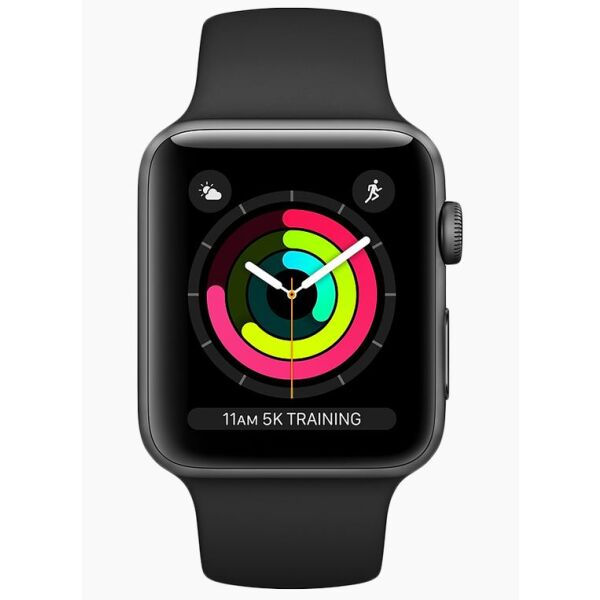 Смарт-часы APPLE Watch Series 3 42mm Space Grey Aluminium Case with Black Sport Band (MTF32GK/A)