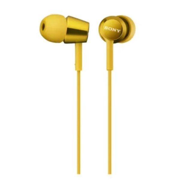 Наушники-вкладыши SONY MDR-EX150 (желтый)