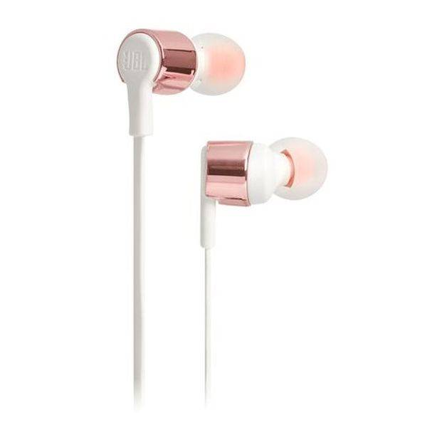 Наушники с микрофоном JBL T210 (розовое золото)