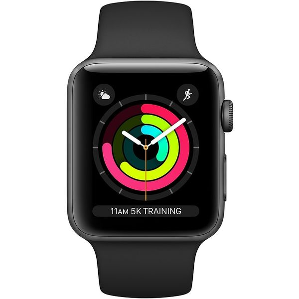 Смарт-часы Apple Watch Series 3 GPS 42mm Space Grey Aluminium Case with Black Sport Band MTF32FS/A