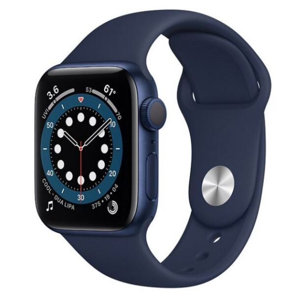 Смарт-часы APPLE Watch Series 6 Blue Aluminium Case with Deep Navy Sport Band 44mm (M00J3UL/A)