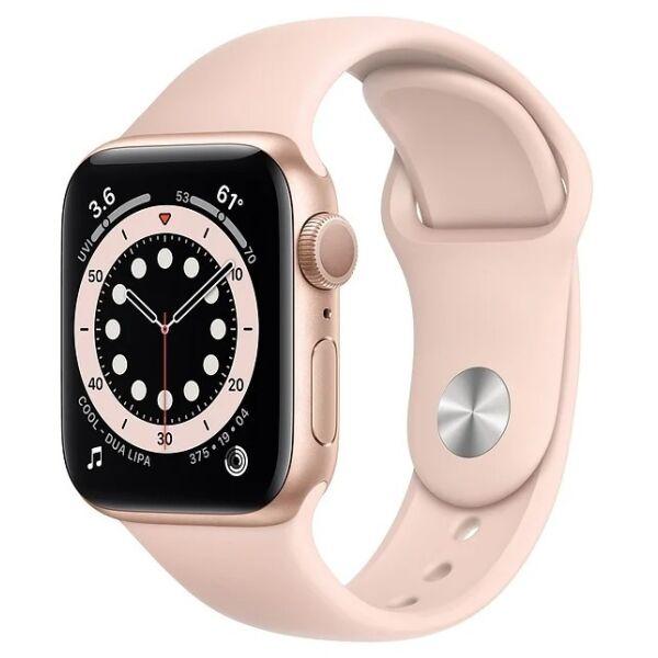 Смарт-часы APPLE Watch Series 6 Gold Aluminium Case with Pink Sand Sport Band 40mm (MG123UL/A)