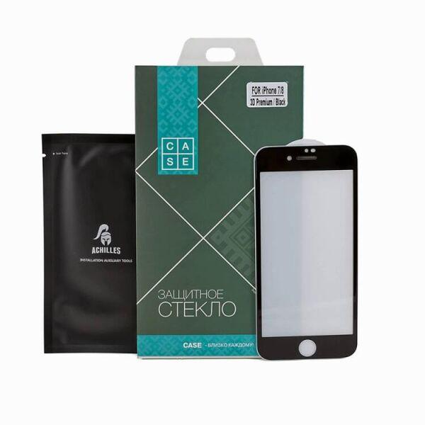 Защитное стекло CASE 3D Premium для Apple iPhone 7 / 8 (черный)