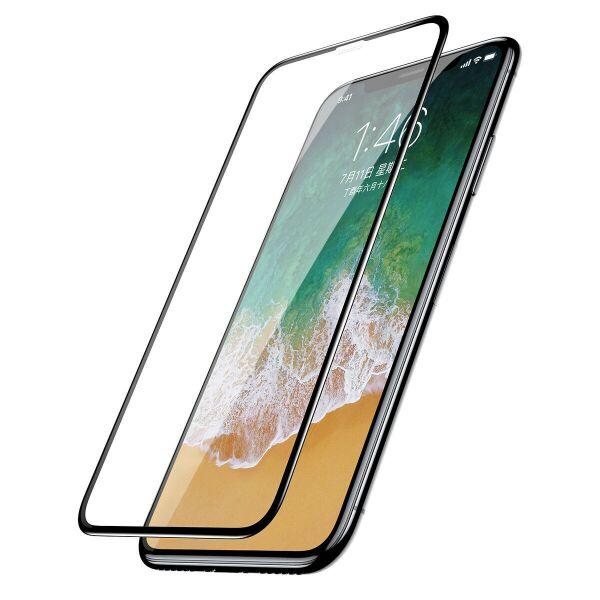 Защитное стекло CASE 3D Rubber для Apple iPhone X / XS / 11Pro (черный)