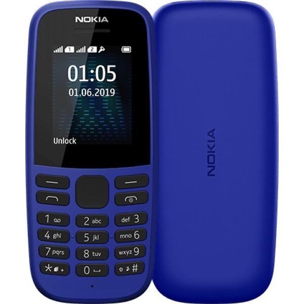 Телефон Nokia 105 синий (TA-1174)