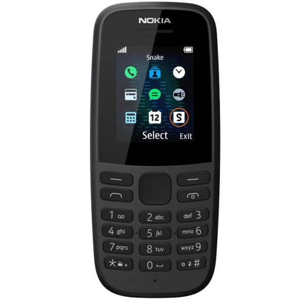 Телефон Nokia 105 SS черный (TA-1203)